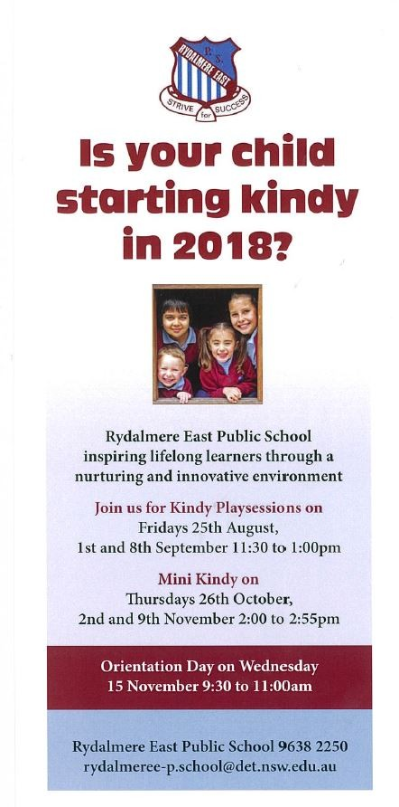Starting kindy 2018